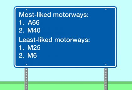 most and least liked motorways